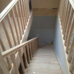 лестница на второй этаж в сип дом